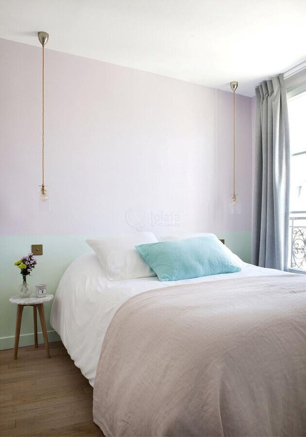 cores pastéis para quarto minimalista Foto Homedit
