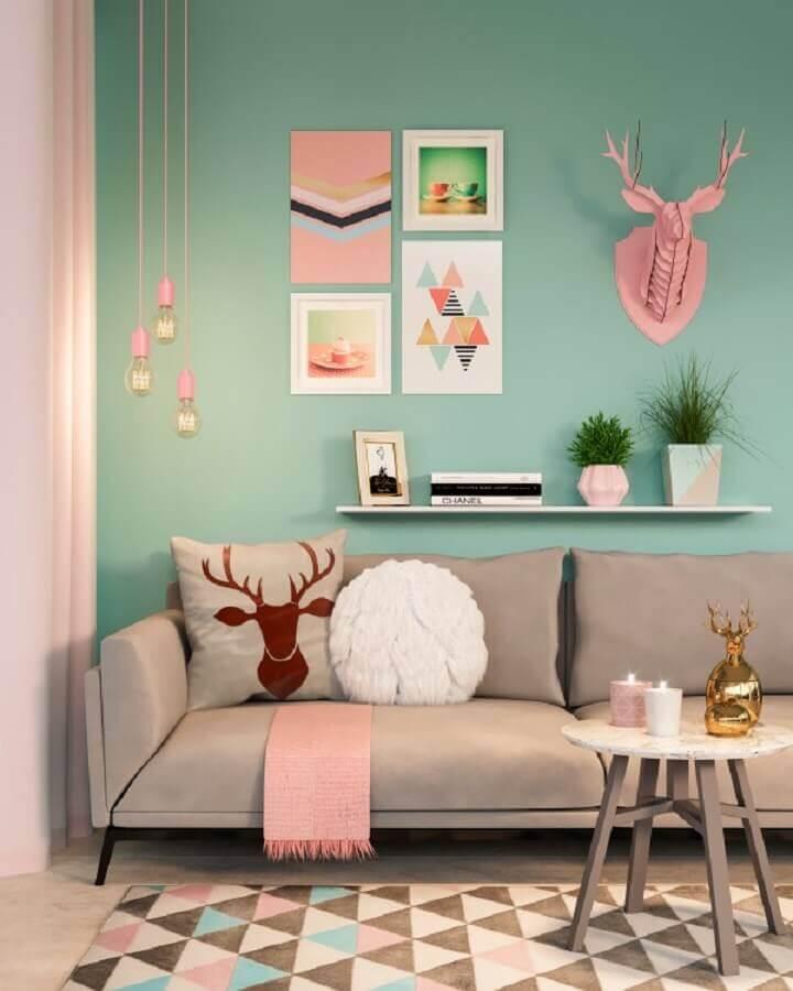 cores tons pastéis para decoração de sala de estar Foto Archilovers