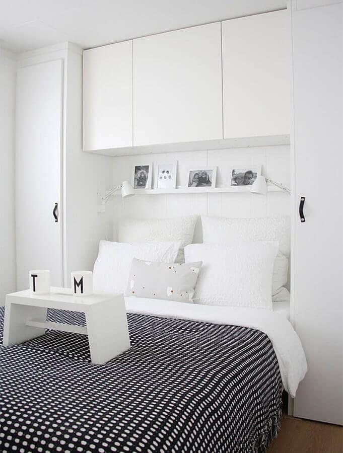 decoração clean com armário branco para quarto planejado Foto Neu Dekoration Stile