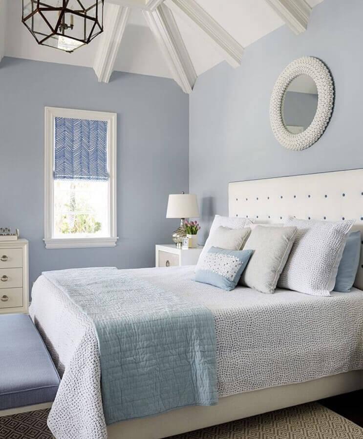 decoração com cores pastéis para quarto azul e branco Foto Pinterest
