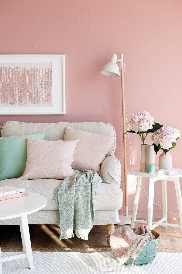 decoração com cores pastéis para sala de estar Foto Etsy