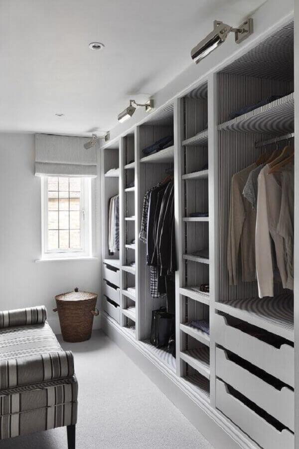 decoração de armário tipo closet simples Foto Pinterest