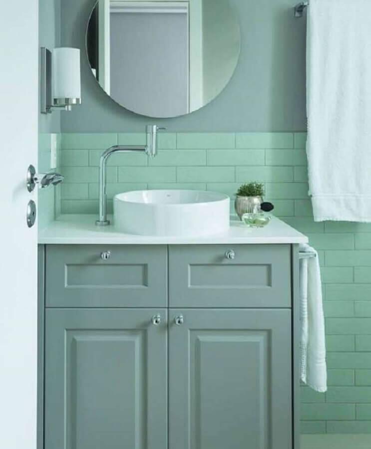 decoração de banheiro com paleta de cores pastéis Foto Archzine