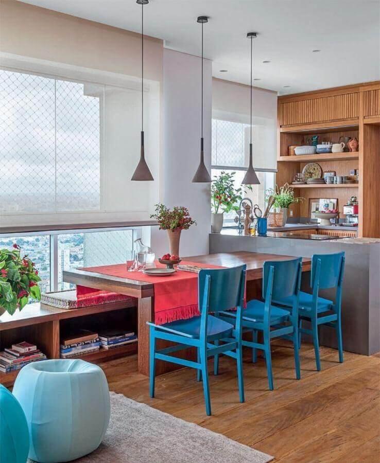 decoração de varanda planejada com sala de jantar apartamento Foto Architecture Art Designs