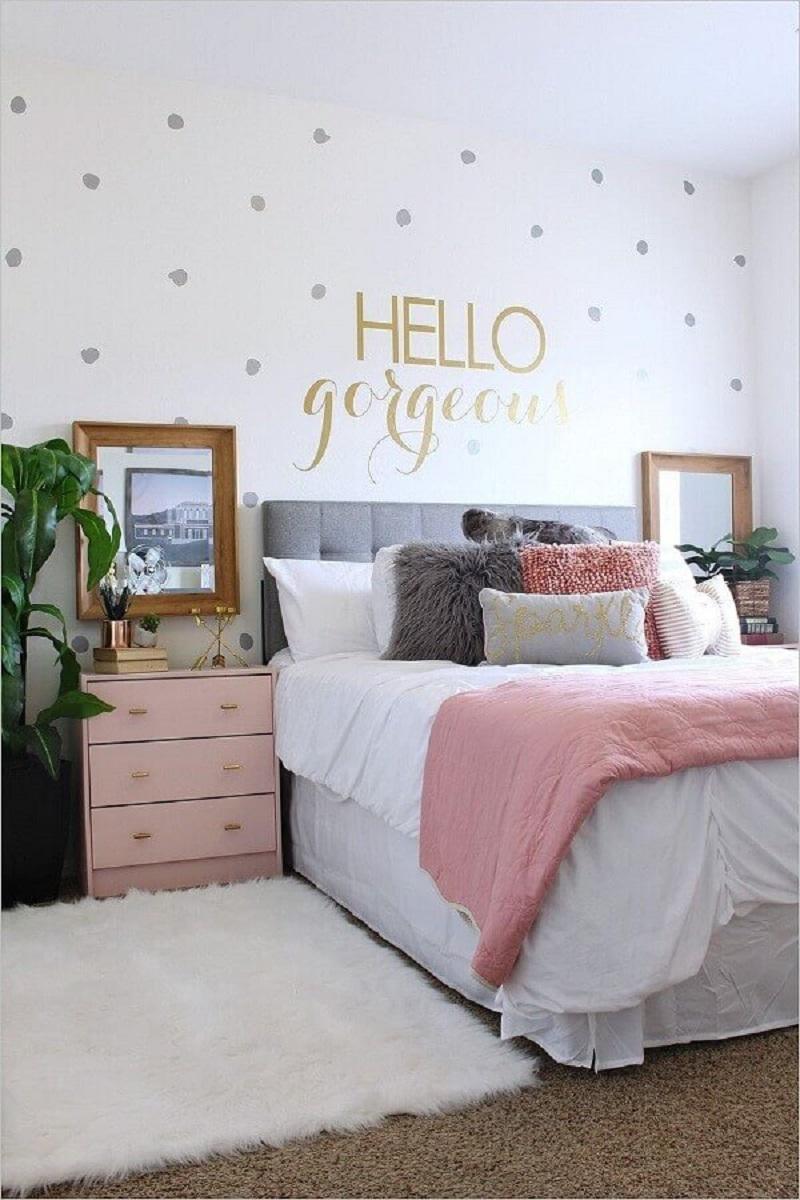decoração em cores pastéis para quarto feminino Foto Home Fashion Trend