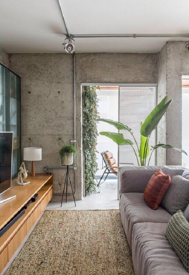 decoração estilo industrial com luminária para sala de estar Foto Casa de Valentina