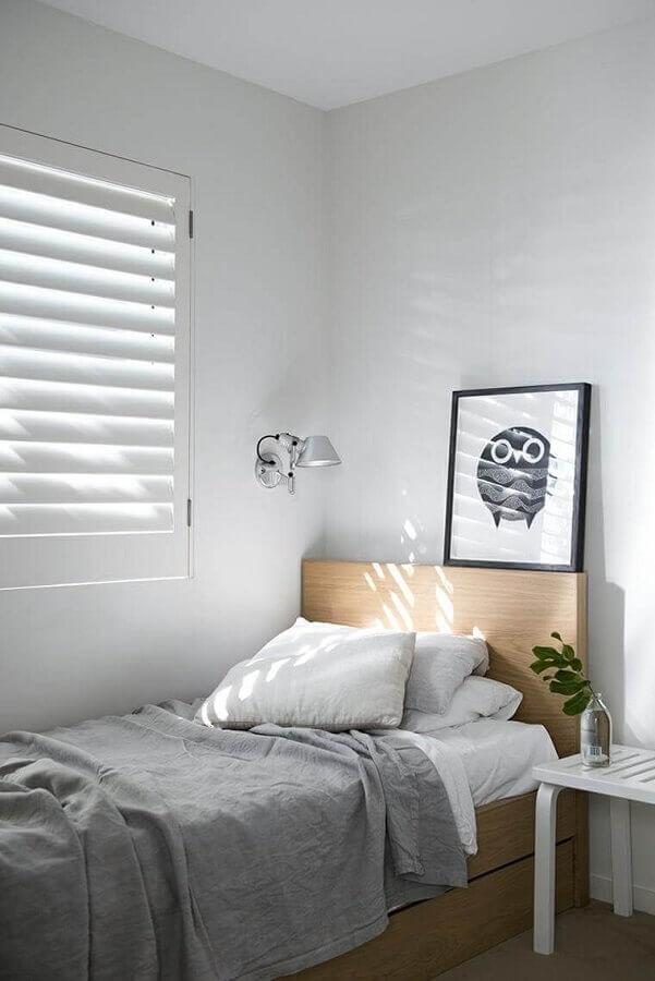 decoração minimalista para quarto de homem simples Foto Apartment Therapy