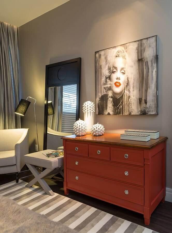 decoração moderna com cômodas coloridas para quarto Foto Pinterest