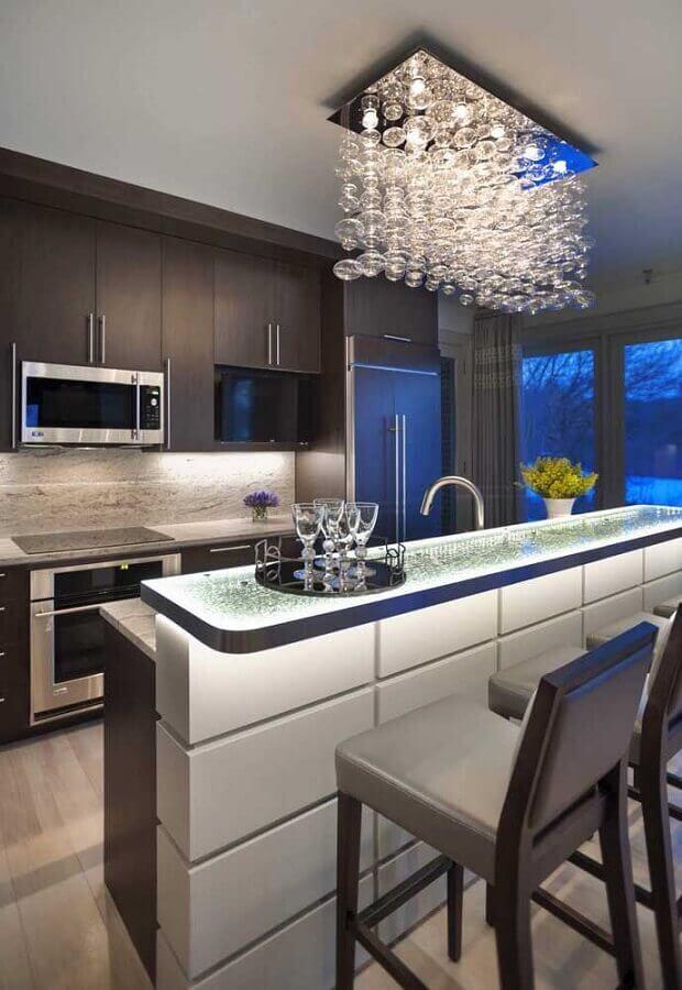 decoração moderna com lustre para cozinha de teto Foto Home Fashion Trend