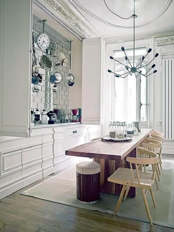 decoração moderna com lustre para cozinha de teto Foto Pinterest