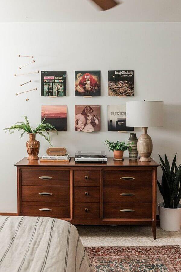 decoração simples com cômoda para quarto de casal Foto Home Fashion Trend
