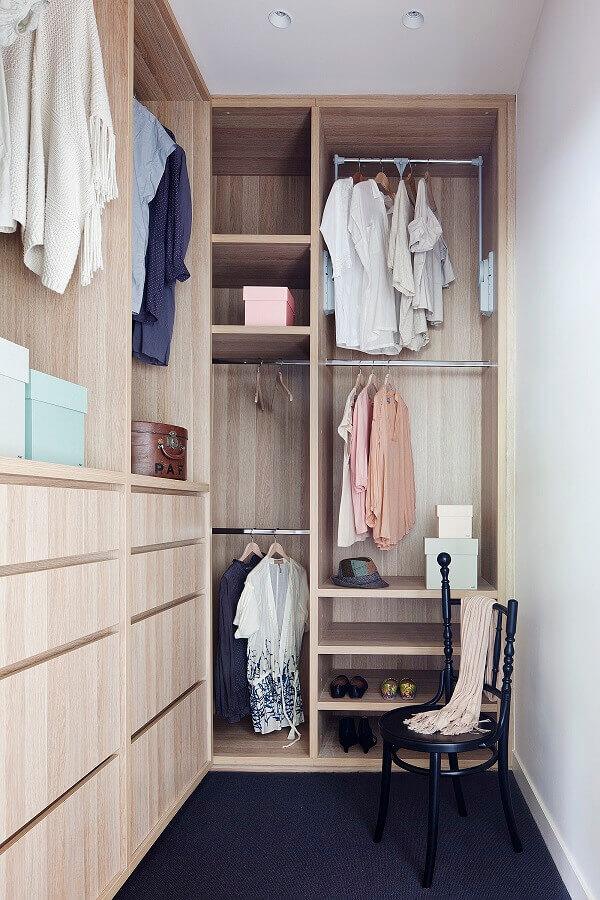 decoração simples para armário closet pequeno Foto Archilovers