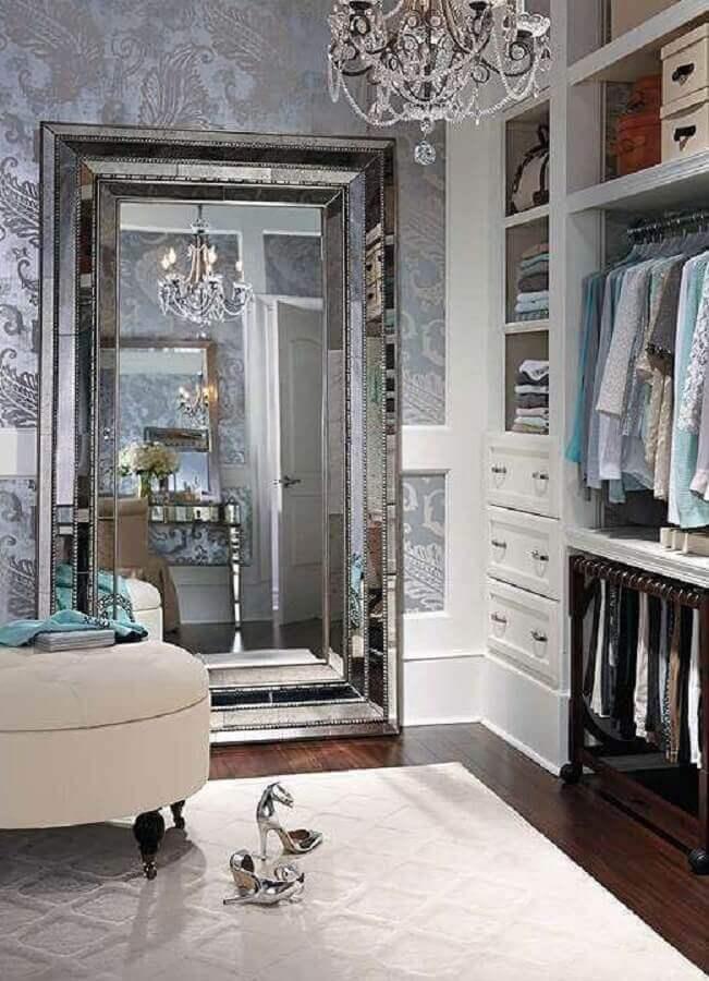 espelho grande para decoração de armário closet clássico Foto Pinterest