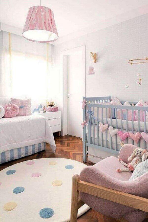 ideias para quarto de bebê decorado em tons pastéis Foto Pinterest