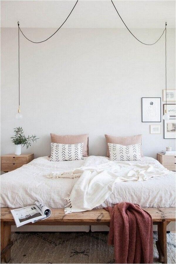 ideias para quarto de casal decorado com estilo minimalista Foto Mushka Bazar