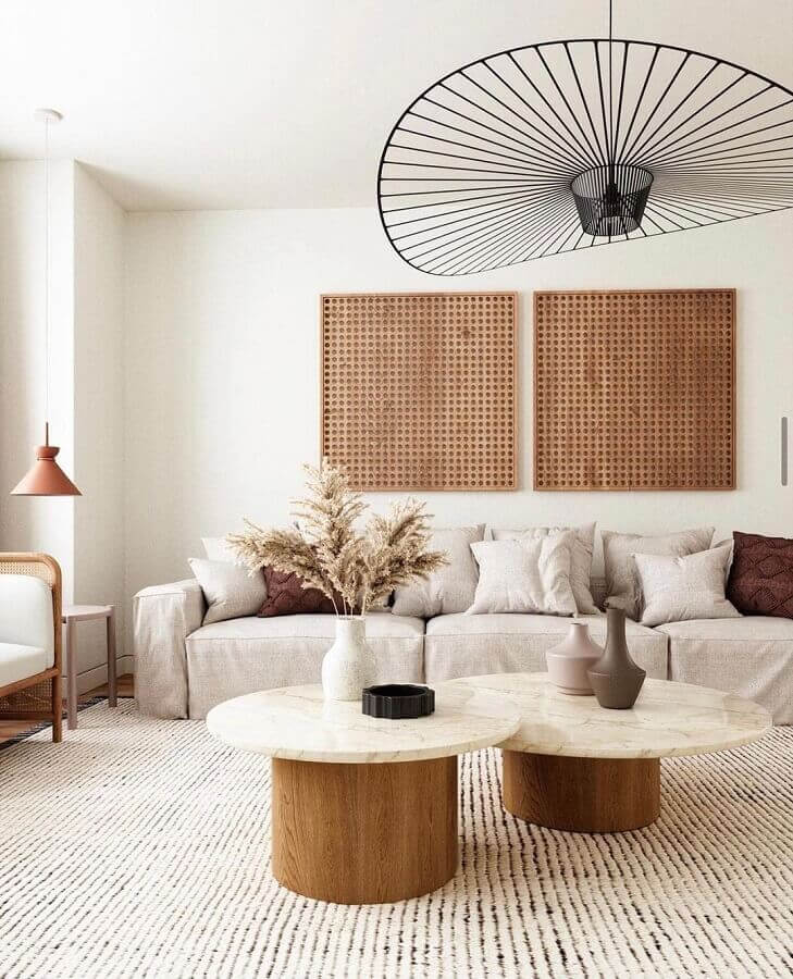 luminária de teto moderna para decoração de sala de estar Foto Chloe Dominik