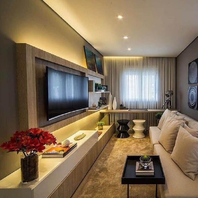 móveis planejados para decoração de sala de apartamento pequeno Foto Home Fashion Trend