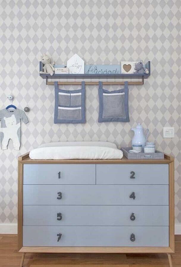 modelo de cômoda para quarto infantil masculino Foto Pinterest