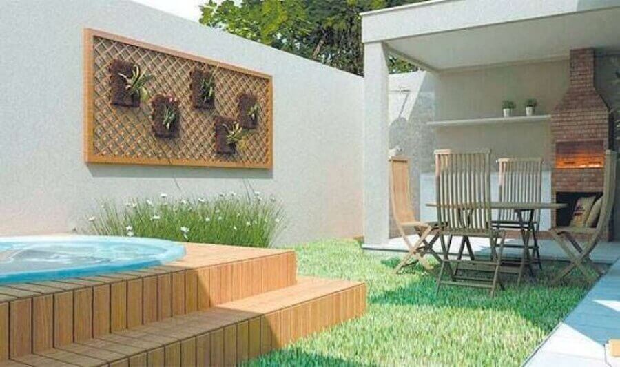 modelos de área gourmet externa decorada com churrasqueira de tijolinho Foto Decoração e Arte