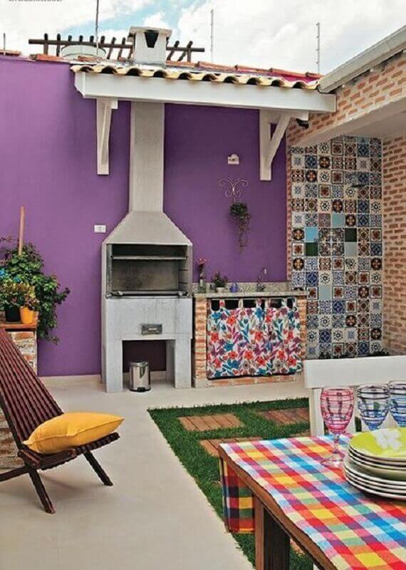 modelos de área gourmet simples com decoração colorida Foto Pinterest