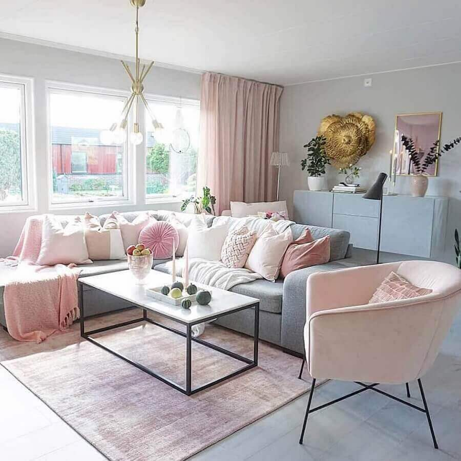 paleta de cores pastéis para decoração de sala de estar Foto Sabrina Ryden