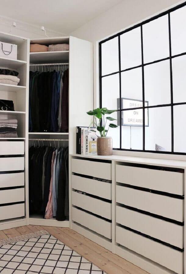 tapete geométrico para decoração de armário closet modulado Foto Apartment Therapy