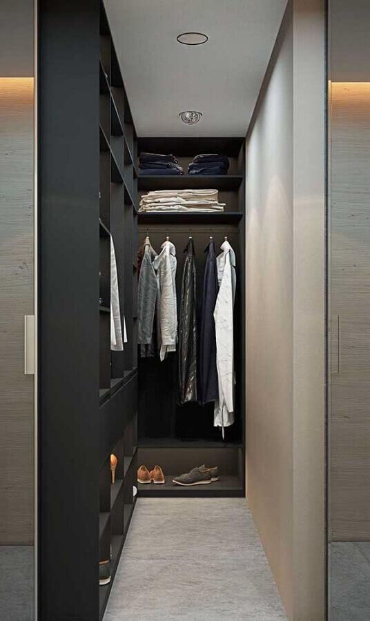 tons de cinza para decoração de armário closet pequeno Foto Pinterest