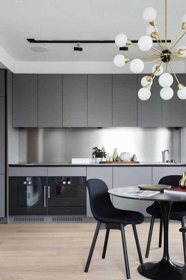 tons de cinza para decoração moderna com lustre para cozinha de teto Foto Home Fashion Trend