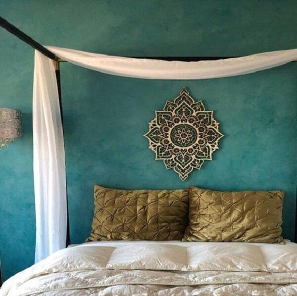 A mandala é muito usada na decoração indiana. Fonte: Arkpad