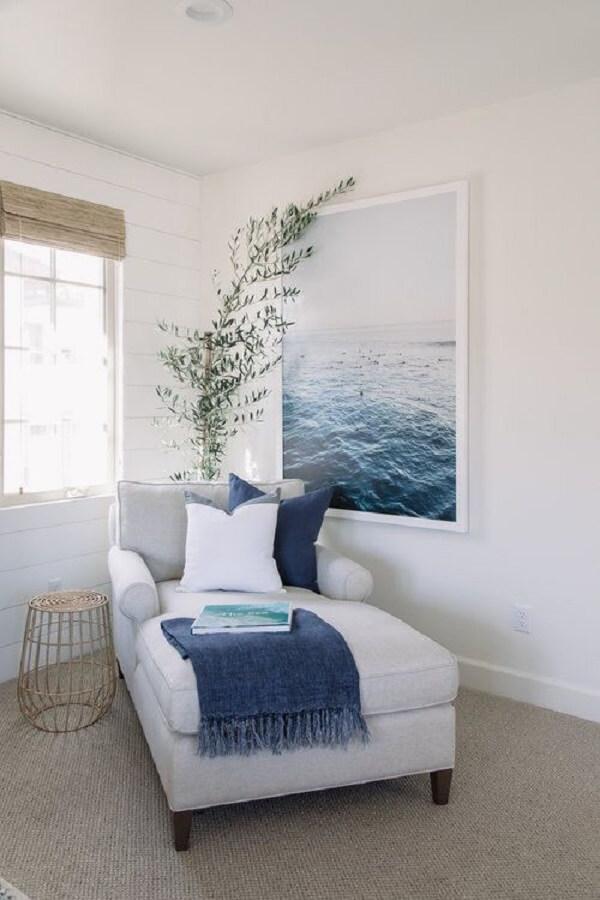 A poltrona divã é confortável e elegante. Fonte: Pinterest