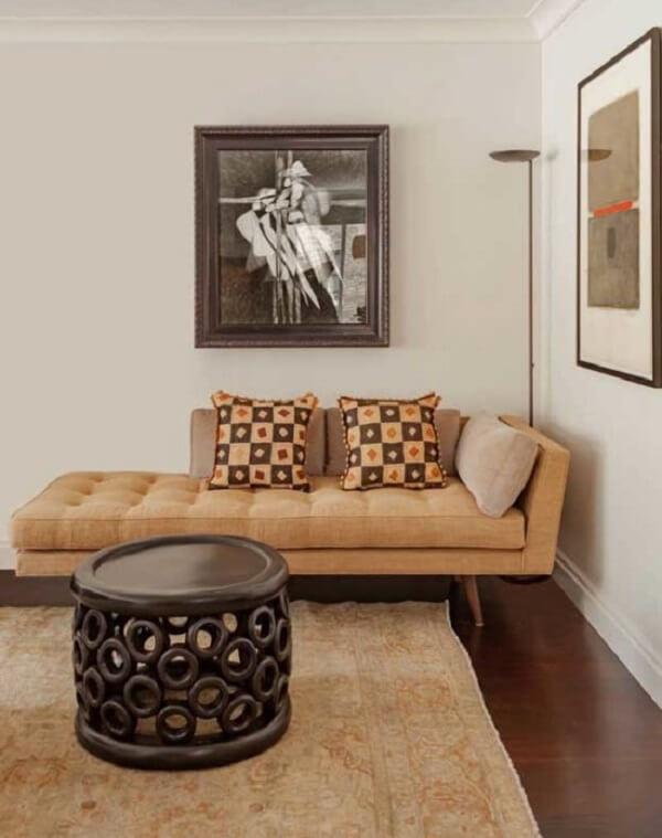 A poltrona divã traz ainda mais estilo para a sua decoração. Fonte: Pinterest