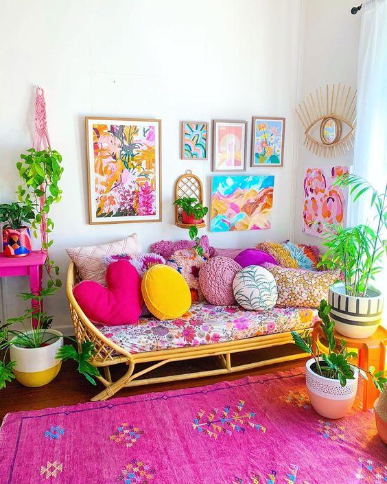 Almofada redonda colorida