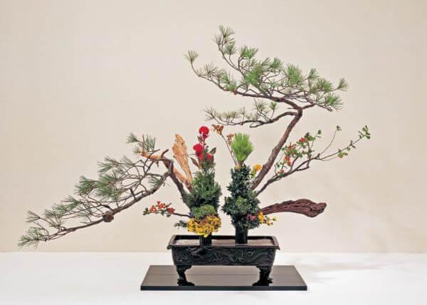 Arte ikebana para decoração