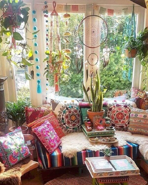 As plantas estão por todos os lados na decoração indiana. Fonte: Pinterest