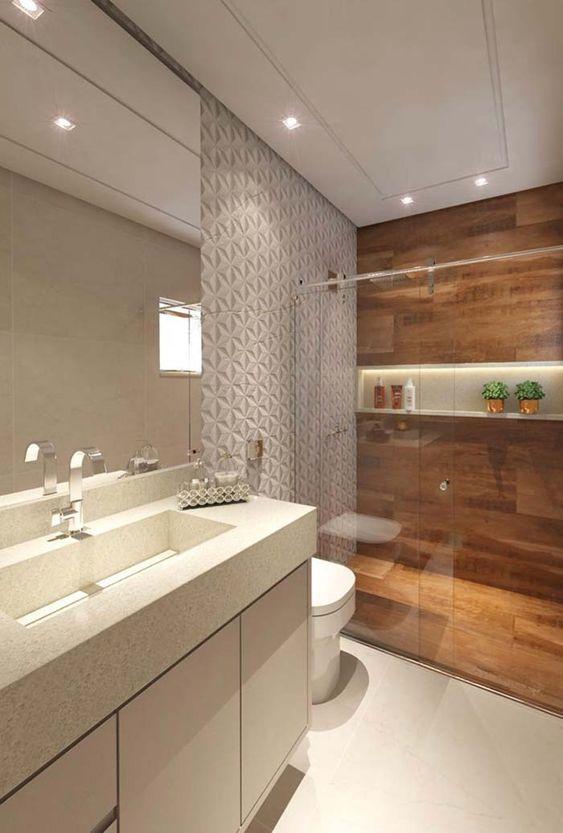 Banheiro com nicho de embutir no box