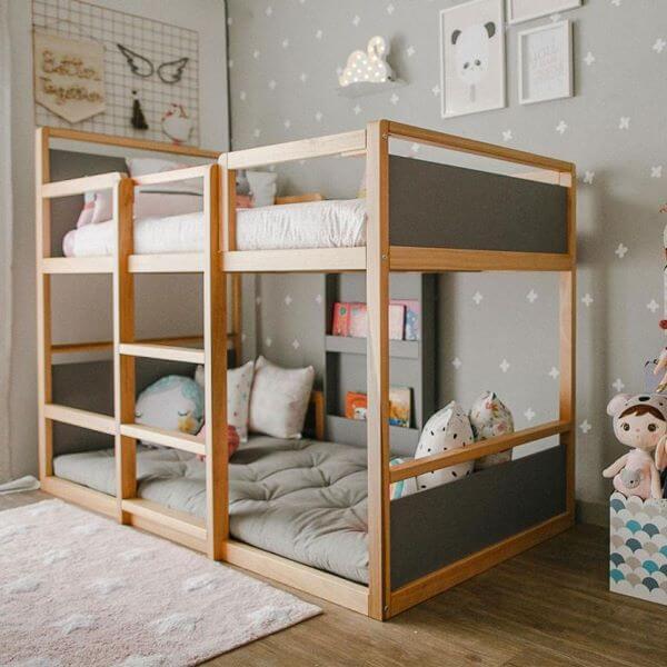 Beliche de madeira para quarto infantil