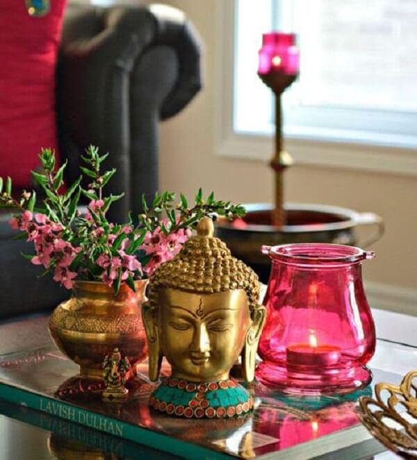 Buda e elefante indiano decoração são muito usados nesses ambientes. Fonte: Pinterest