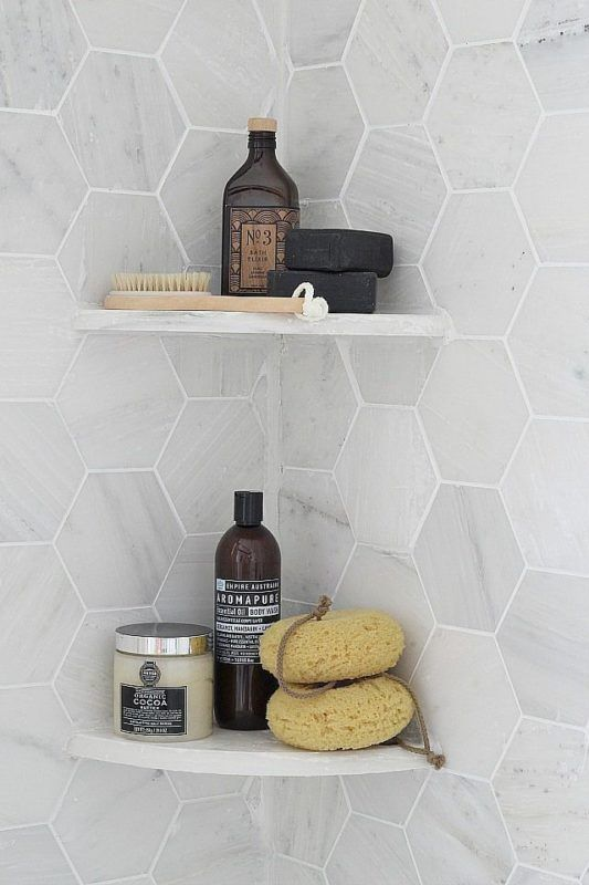 Cantoneira para banheiro de granito para organizar o ambiente