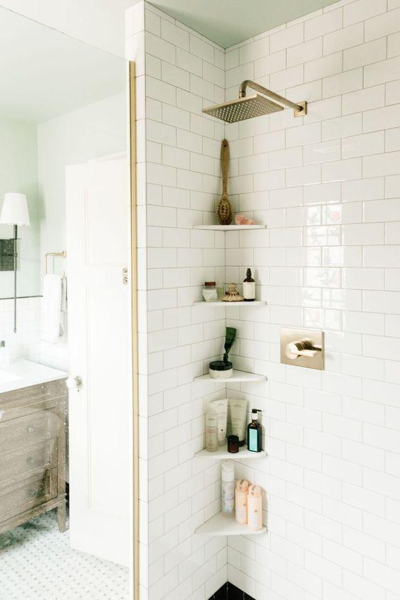 Cantoneira para banheiro de pedra