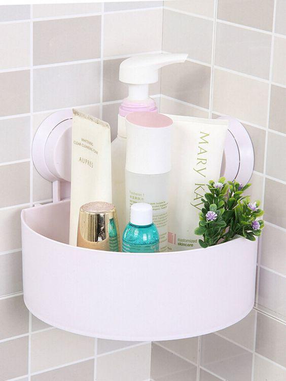 Cantoneira para banheiro de plástico