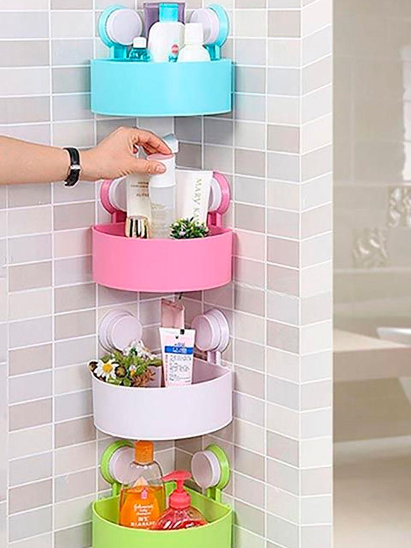 Cantoneira para banheiro de plástico colorido