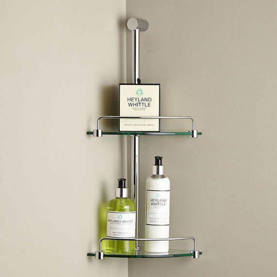Cantoneira para banheiro de vidro