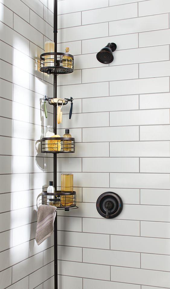 Cantoneira para banheiro preta