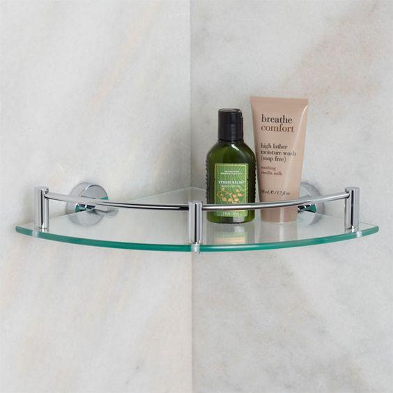 Cantoneira pra banheiro de vidro