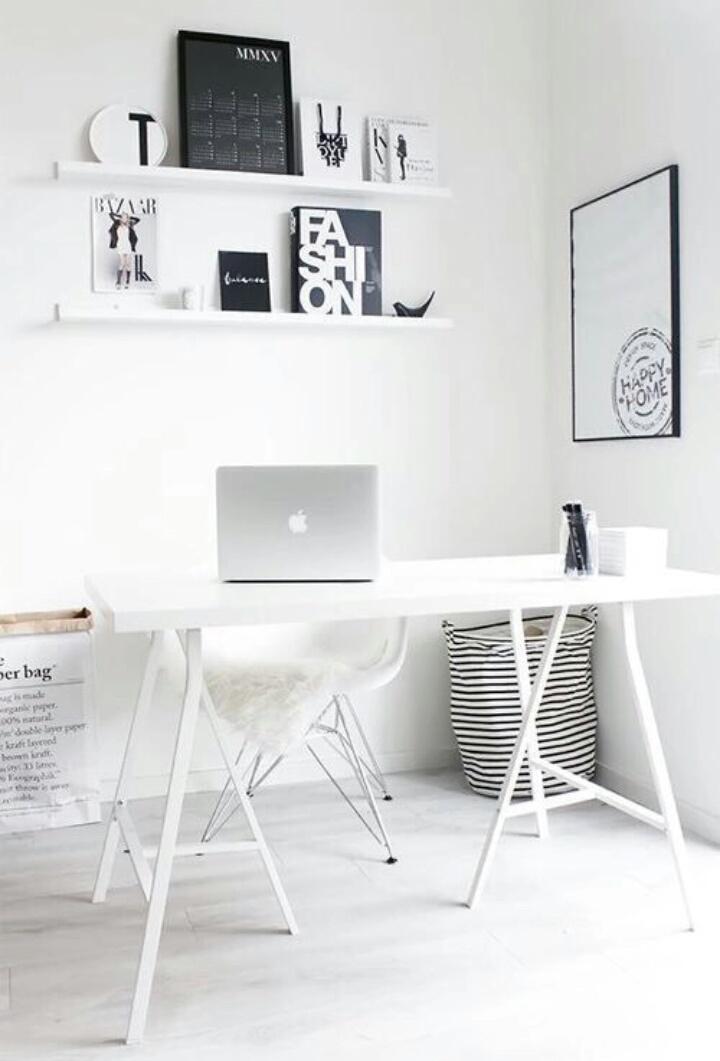 Cavalete branco para escritório clean
