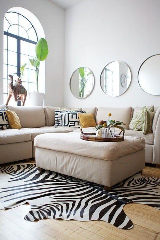 Conjunto de moldura redonda para espelho para sala moderna