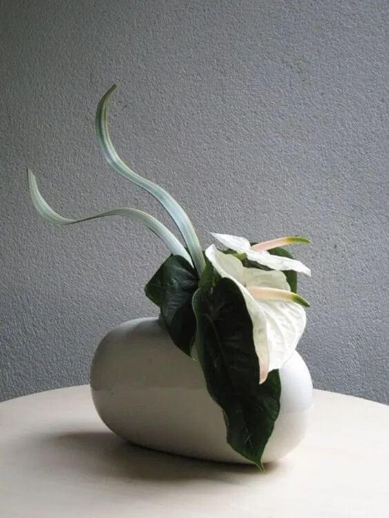 Decoração clássica com ikebana