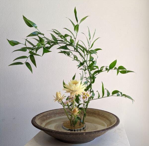 Decoração com ikebana