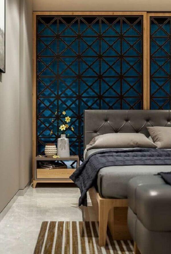 Decoração indiana para quarto com painel vazado. Fonte: Pinterest