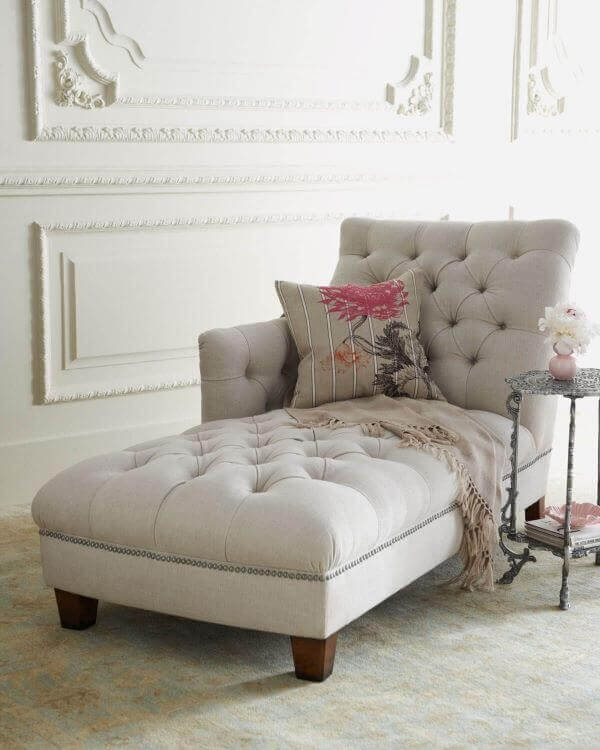 Decoração poltrona divã sofisticada e elegante. Fonte: Pinterest